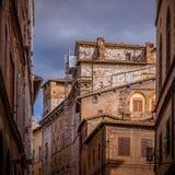 Calle de Siena Foto de archivo