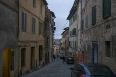 Calle de Siena, Italia foto de archivo