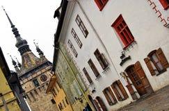 Calle de Sighisoara Foto de archivo