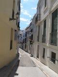 Calle de Sitges Fotos de archivo libres de regalías