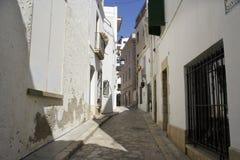 Calle de Sitges imagen de archivo libre de regalías