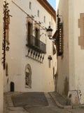 Calle de Sitges (España) Foto de archivo libre de regalías