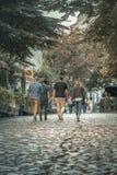 Calle de Skadarlija en Belgrado, Serbia Fotos de archivo libres de regalías