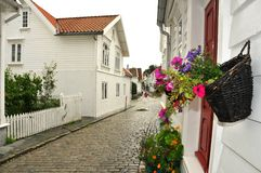 Calle de Stavanger Imágenes de archivo libres de regalías