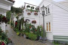 Calle de Stavanger Fotos de archivo libres de regalías