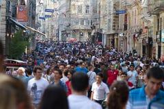 Calle de Taksim Istiklal fotografía de archivo libre de regalías