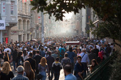 Calle de Taksim Istiklal Foto de archivo