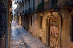 Calle de Tallers de los dels de Carrer temprano por la mañana. Imagen de archivo