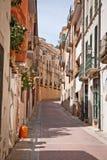 Calle de Tossa Del Mar Fotografía de archivo