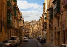 Calle de Valletta. Malta Imágenes de archivo libres de regalías