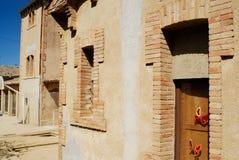 Calle de Viladrau, Gerona, España Imagenes de archivo
