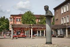 Calle de Vilniaus en Siauliai lituania fotografía de archivo
