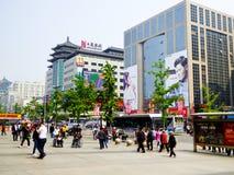 Calle de Wangfujing en Pekín fotografía de archivo libre de regalías