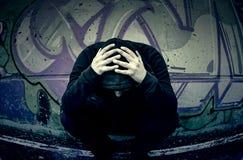 Calle dejected joven Foto de archivo libre de regalías
