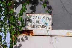 Calle del梅尔卡多 免版税库存照片