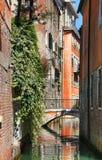 Calle del agua en Venecia Foto de archivo libre de regalías