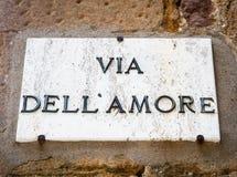 Calle del amor Imagenes de archivo