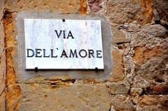 Calle del amor en Italia Imágenes de archivo libres de regalías