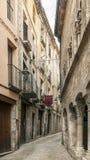 Calle del besalu Fotos de archivo libres de regalías