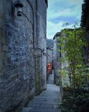 calle del callejón en la ciudad vieja 2 fotografía de archivo
