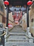 Calle del callejón en la ciudad vieja 8 foto de archivo