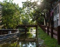 Calle del canal en Georgetown Imagen de archivo