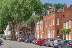 Calle del castillo en Farnham Fotos de archivo libres de regalías