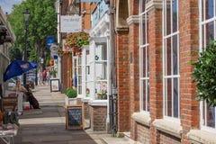 Calle del castillo en Farnham Fotografía de archivo