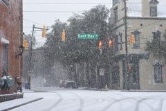 Calle del este de la bahía, Charleston, SC Fotografía de archivo libre de regalías