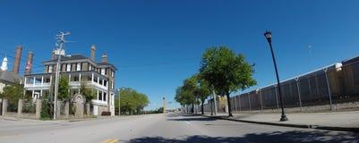 Calle del este histórica de la bahía, Charleston, SC Imagenes de archivo