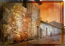 Calle del francés de Grunge Fotografía de archivo libre de regalías