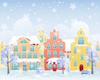 Calle del invierno Imagenes de archivo