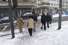 Calle del invierno Fotografía de archivo