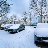 Calle del invierno, Londres - Inglaterra Imagen de archivo