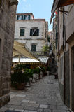calle del litlle en la ciudad vieja de Dubrovnik Fotografía de archivo