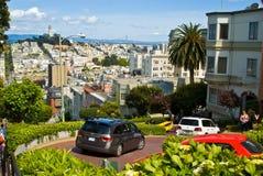 Calle del lombardo de San Francisco Imágenes de archivo libres de regalías