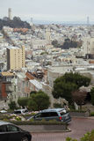 Calle del lombardo, San Francisco Imágenes de archivo libres de regalías