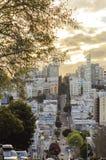 Calle del lombardo, San Francisco, California Fotografía de archivo libre de regalías