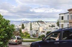 Calle del lombardo, San Francisco, California Imagenes de archivo