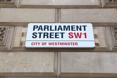 Calle del parlamento, Londres Fotos de archivo libres de regalías