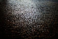 Calle del pavimento Foto de archivo libre de regalías