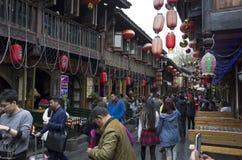 Calle del peatón de Chengdu Jinli imagen de archivo