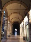 Calle del portici de Bolonia Fotografía de archivo libre de regalías