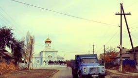 Calle del pueblo en Europa Oriental metrajes
