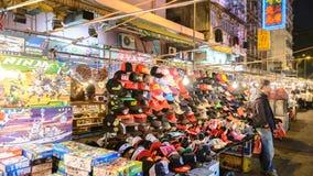 Calle del templo en Hong Kong Imagen de archivo libre de regalías