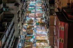 Calle del templo en la noche Imágenes de archivo libres de regalías