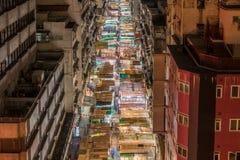 Calle del templo en la noche Foto de archivo libre de regalías