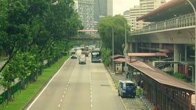 Calle del tráfico en Singapur almacen de video