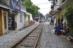 Calle del tren Imagen de archivo libre de regalías
