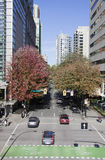 Calle del verde de Vancouver Imágenes de archivo libres de regalías